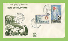 French Antarctic 1963 International Year of the Quiet Sun set on First Day Cover