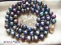 VINTAGE JEWELLERY REAL IRIDESCENT RAINBOW PEACOCK PEARLS NECKLACE SPECIAL GIFT