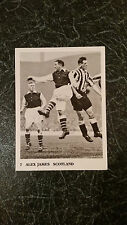 RARE FOOTBALL: Choucas des tours Football Trade Card #7 Alex James Arsenal Preston Scotland