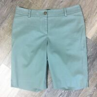 NEW Talbots Blue Chino Shorts Size 4P Mid Rise 32 in Waist Stretch Pockets