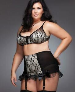 Plus Size High Waisted Garter Belt - Coquette 1024X