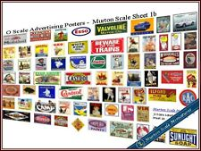 O GAUGE QUALITY ADVERTISING SIGNS S6b MODEL RAILWAY HORNBY STATION TOWN LAYOUT