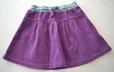 Girls MINI BODEN Sz 9 10y Purple Corduroy Pleated Skirt Stripe Waistband