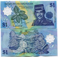 P22 BRUNEI 1 Dollar 1996 POLYMER MONEY BANKNOTES - UNC - P22a x 10 Pieces