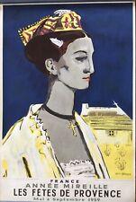 Superbe affiche lithographie Yves Brayer fêtes de Provence année Mireille 1959