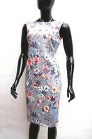 MARKS & SPENCER PER UNA GREY MIX FLORAL SCUBA SHIFT DRESS Sizes 8,12,20