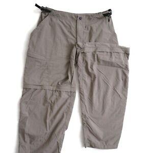 REI Womens Pants Convertible Cargo Gray Nylon Outdoors Hiking Size Large