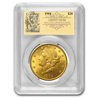 1904 $20 Liberty Gold Double Eagle BU PCGS (Prospector Label) - SKU#163281