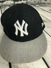 New Era 59Fifty Hat MLB New York Yankees Mens Navy/Gray Fitted 71/8 Cap NEW