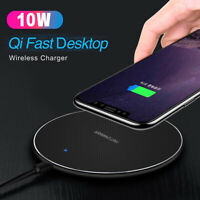 For iPhone 12 11 Pro Max XR Qi Wireless Fast Charger Charging Pad Dock Mat Stand