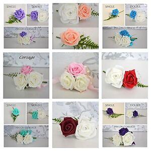 Wedding CORSAGE buttonhole, Wrist corsage, Double buttonhole for wedding, proms