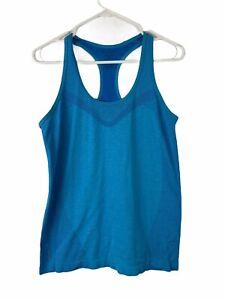 Champion Women's Racer Back Active Wear  Medium Top Blue Gym Fitness Shirt