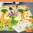 Foldable Baby Play Mat Indoor Crawling Gym Mat Outdoor Picnic Rug Kids Play Mats <br/> 160x180x1cm,180x200x1cm,Thick,Light Weight,Waterproof