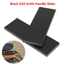 "2 Pcs/Set Black G10 Knife Handle Material Scales 1/4 (.25)"" x 1.5"" x 5.5"" Slabs"