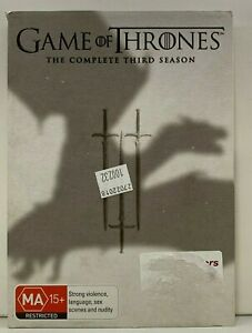 Game Of Thrones :The Complete Third Season (DVD, 2014, 5-Disc Set) - TV Series 3