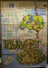 Original Fuzz One Graffiti Art....NYC Subway Map