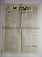 N836 La Une Du Journal Le Figaro 25 juillet 1923  pacte traité de Lausanne