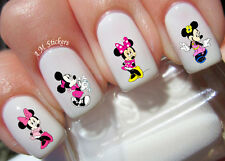 Minnie Mouse Nail Art Stickers Transfers Decals Set of 48
