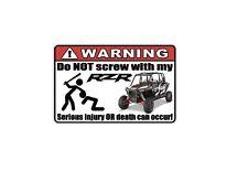 WARNING: Funny Decal/Sticker for RZR lovers XP4 1000 Car/Truck/Home/ATV/UTV (3)