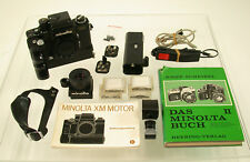 MINOLTA XM XK mot Motor Set loupe finder 4 screens grip release-cable book etc.