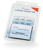 Coollaboratory Liquid MetalPad for 3 x CPU's and Cleaning Kit