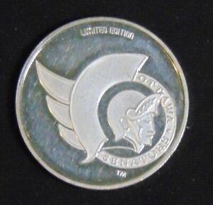 OTTAWA SENATORS .999 FINE SILVER COIN 1992 NHL STANLEY CUP 1893 - 1993 - LOW #54