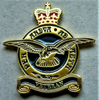 2 x BRITISH MILITARY RAF ENAMEL PIN BADGE RAF VETERAN REMEMBRANCE DAY BRAND NEW