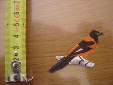 Chromo Decoupi Image GRIL BISCOTTES PAIN DE MIE Oiseaux carouge orange