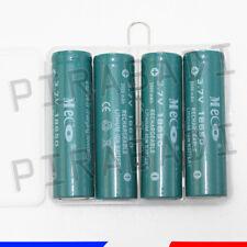 4 PILES ACCUS RECHARGEABLE 18650 3.7V 3000mAh Li-ion + BOITE DE RANGEMENT OFFERT