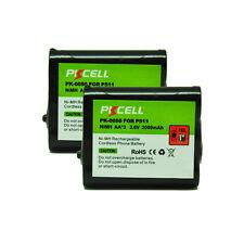 2 Cordless Phone P511 P402 KX-TG2267 Battery 3.6V 2000mAh Batteries PKCELL