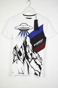 RRP €109 FRANKIE MORELLO TOD Men LARGE Alien Spaceship Print T-Shirt 13715