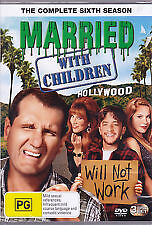 MARRIED WITH CHILDREN - COMPLETE SIXTH SEASON 6 - BRAND NEW & SEALED 3-DISC DVD