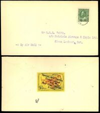 CL27, Semi-Official VF Cover - Red Lake to Sioux Lookout - Stuart Katz