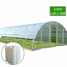 HGmart 2.4Mil Plastic Covering Clear Polyethylene Greenhouse Film, 6.5x100ft