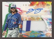 2020 Topps Inception Bo Bichette RPA RC Rookie Patch AUTO 002/155