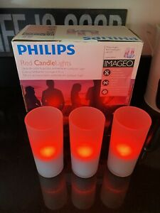 Philips Imageo Rechargeable Candle Lights (set of 3 with induction charger base)