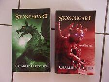 lot fantasy Charlie Fletcher STONEHEART 1 et 2 ( Stoneheart / main de fer)