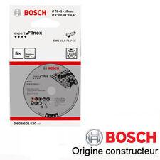 disque à tronconner l'inox 76x10x1mm Bosch 2608601520 LOT DE 5