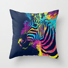 Coussin oreiller housse colorful zèbre mignon animal 18' * 18' décoration d'intérieur