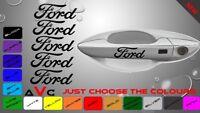 5 Pcs  FORD ST FIESTA SPORT Car Door Handle Sticker Sport Badge Dashboard