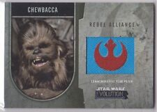 STAR WARS 2016 TOPPS EVOLUTION COMMEMORATIVE FLAG PATCH SILVER CHEWBACCA 158/170