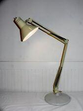 Antique Vtg Industrial Metal Architect Drafting Floating Desk Table Lamp & Base