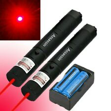 2Pc 900 Miles Red Visible Beam Laser Pointer Pen Rechargeable Lazer Focus/Zoom