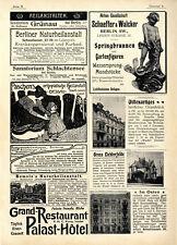 Berliner Immobilien Mietshäuser Villa Springbrunnen Lichtfontainen-Anlagen 1899