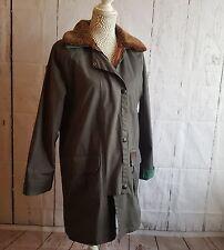 Ladies Toggi Waxed Jacket / Coat sz XS detachable collar double button country