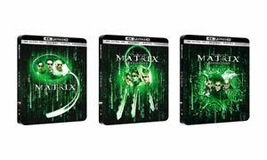 MATRIX Trilogy STEELBOOK (4K + Bluray + Digital Code) - FACTORY SEALED
