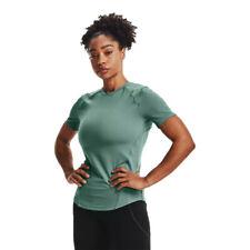 Under Armour женские Меридиан наполнить футболка топ зеленый спортивный для бега тренажерного зала
