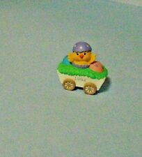 1994 Hallmark Merry Miniatures Easter/Spring Chick In White Wagon
