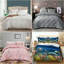 New ListingFlorals Duvet/Quilt Cover Bedding Set Queen King Size Pillow Cases Solid Animals