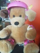 Build A Bear Brown Dog with Helmet & Pads Barking Dog
